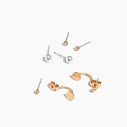 Front-Back Stud Earring Set