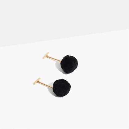 Pom-Pom Drop Earrings