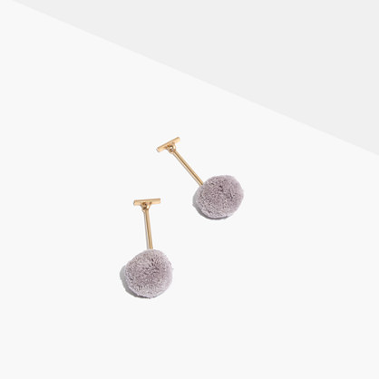 Pre-order Pom-Pom Drop Earrings