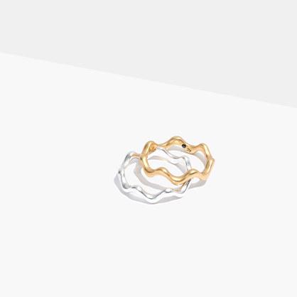 Wavy Ring Set