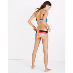 Pre-order Mara Hoffman® Zoa Classic Bikini Bottom in Sunglow Stripe