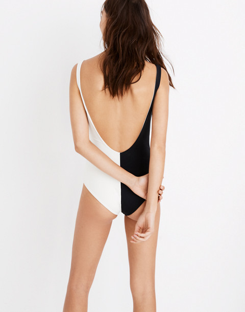 Mara Hoffman® Maven Tie-Front One-Piece Swimsuit in Colorblock