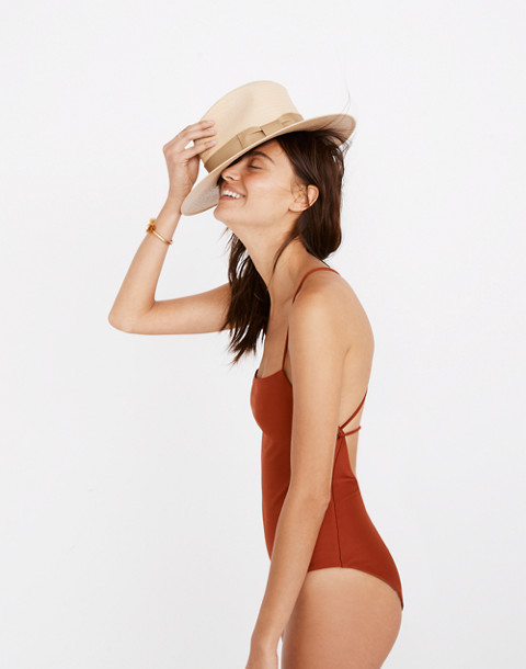 Mara Hoffman® Olympia One-Piece Swimsuit in rust image 3