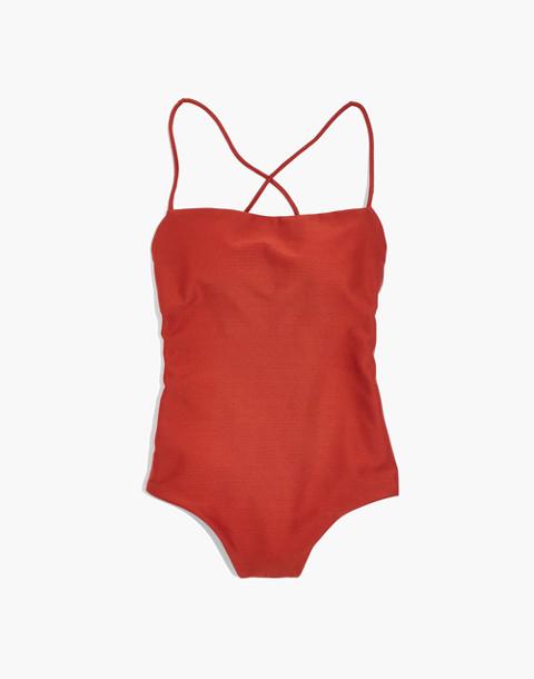 Mara Hoffman® Olympia One-Piece Swimsuit in rust image 4