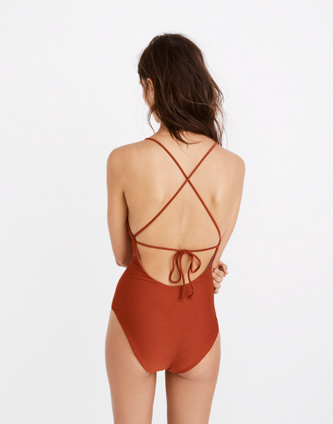 Mara Hoffman® Olympia One-Piece Swimsuit in rust image 1