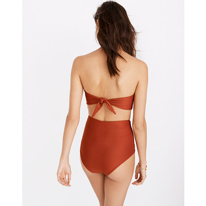 Mara Hoffman® Abigail Tie-Back Bandeau Bikini Top
