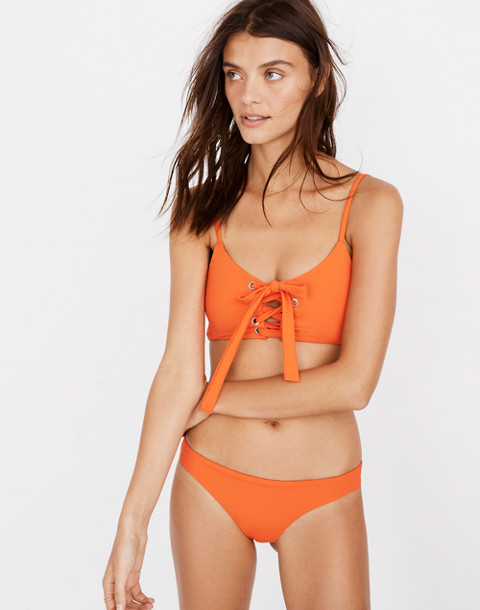 Mara Hoffman® Scarlett Lace-Up Bikini Top