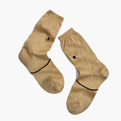 Madewell x Hansel from Basel™ Smiley Metallic Crew Socks