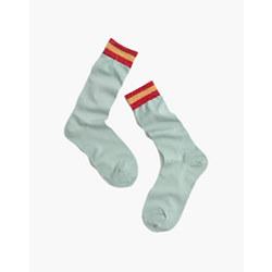 Madewell x Hansel from Basel™ Metallic Stripe Trouser Socks