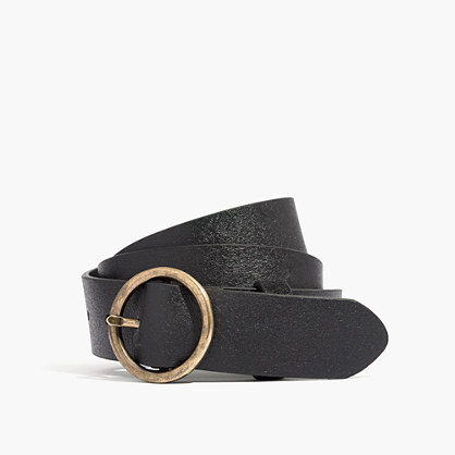 Suede Circle Buckle Belt