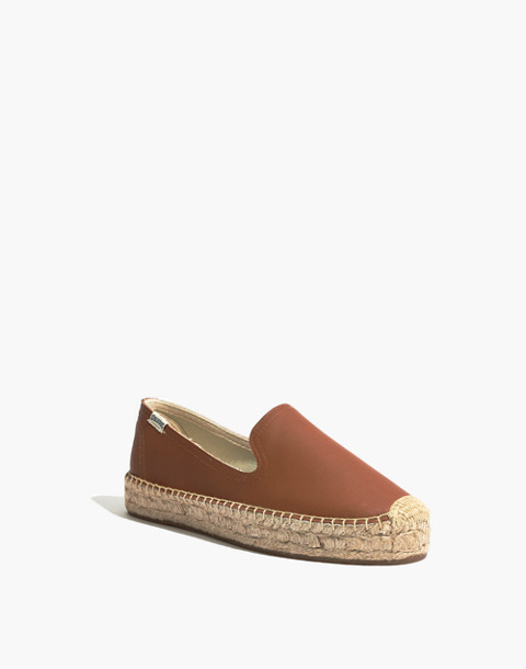 Soludos® Platform Smoking Slippers in tan image 2