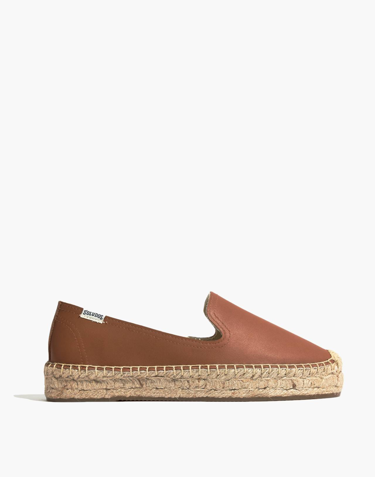 Soludos® Platform Smoking Slippers in tan image 1