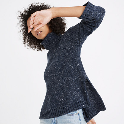 Flecked Turtleneck Sweater