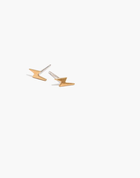 Vermeil Lightning Stud Earrings
