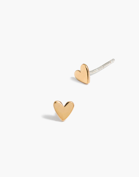 Vermeil Heart Stud Earrings in vermeil image 1