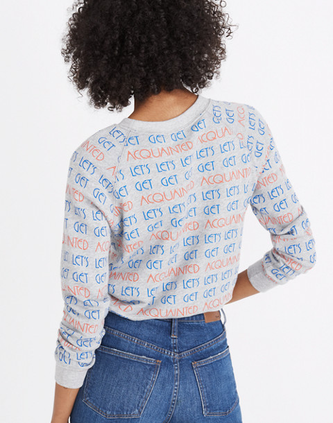 Madewell x Monogram® Let's Get Acquainted Sweatshirt in acquainted image 2