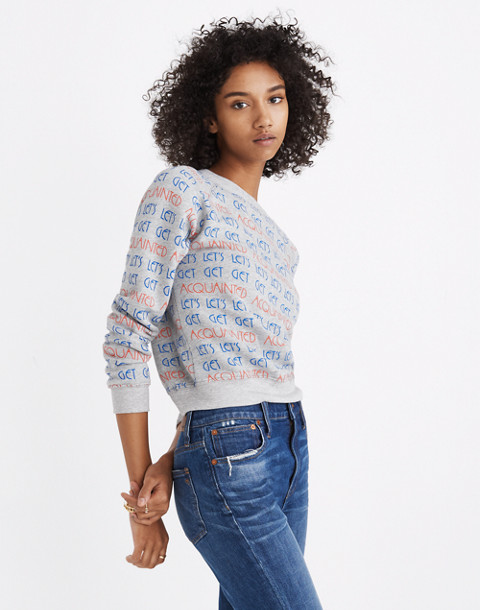 Madewell x Monogram® Let's Get Acquainted Sweatshirt in acquainted image 1