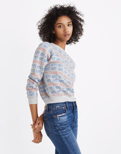 Madewell x Monogram® Let's Get Acquainted Sweatshirt