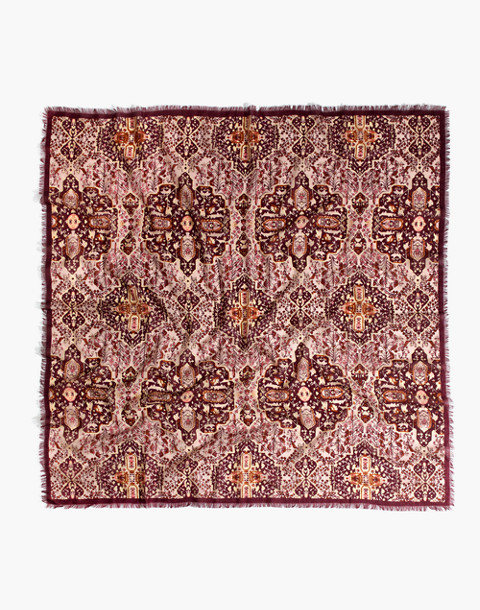 Square Kaleidoscope Scarf in gentle blush multi image 2