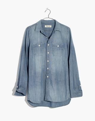 Chambray Classic Ex-Boyfriend Shirt in Mazzy Wash in mazzy wash image 4