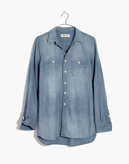 1d93c5cd Chambray Classic Ex-Boyfriend Shirt in Mazzy Wash in mazzy wash image 4