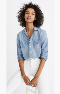 Chambray Classic Ex-Boyfriend Shirt in Mazzy Wash