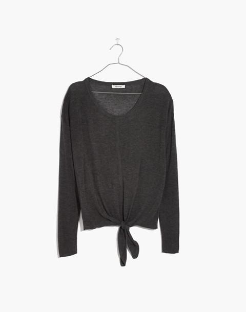 Modern Tie-Front Sweater