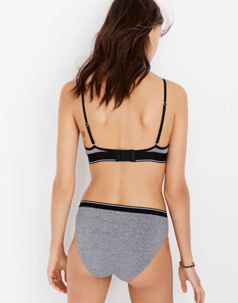 Cotton-Modal® Eliza Cutout Bralette in Sport Stripe