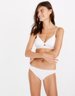 Cotton-Modal® Bikini in Sport Stripe
