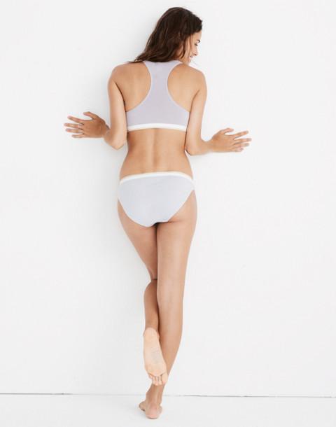 Cotton-Modal® Bikini in Sport Stripe in thistle image 3