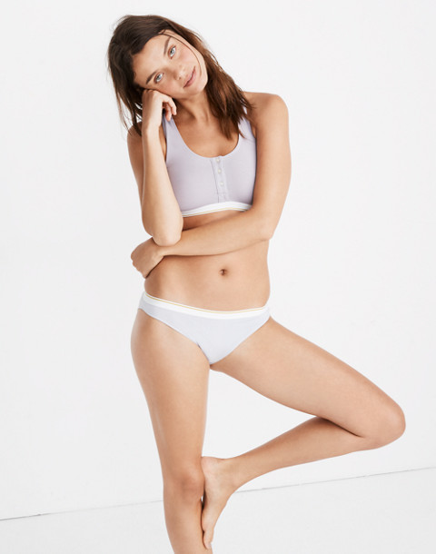 Cotton-Modal® Bikini in Sport Stripe in thistle image 1