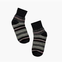 Metallic Stripe Ankle Socks