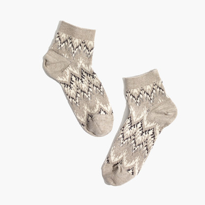 Chevron Ankle Socks