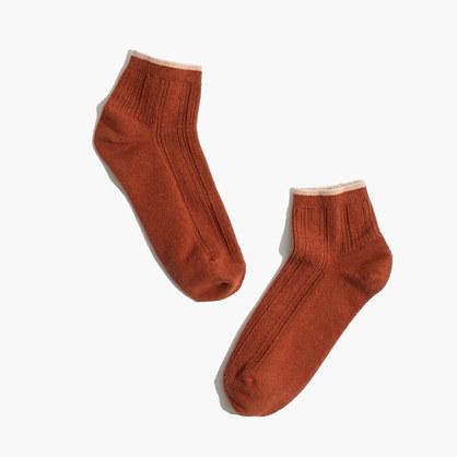 Cableknit Anklet Socks