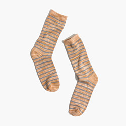 Space-Dyed Stripe Trouser Socks