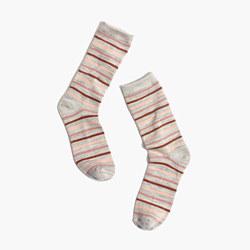 Space-Dyed Stripe Trouser Socks