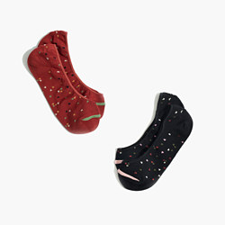 Two-Pack Confetti Hearts Low-Profile Socks