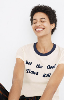 Let the Good Times Roll Ringer Tee