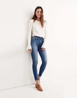 "Short 10"" High-Rise Skinny Jeans: Tulip-Hem Edition"