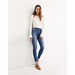 "Tall 10"" High-Rise Skinny Jeans: Tulip-Hem Edition"