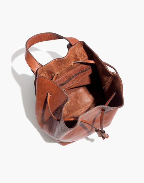 The Somerset Mini Backpack in english saddle image 3