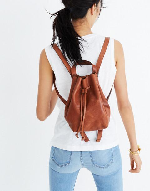The Somerset Mini Backpack in english saddle image 2