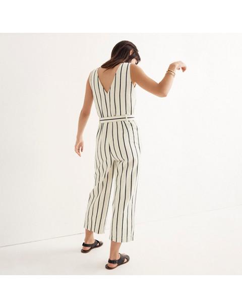 Striped Pull-On Jumpsuit in marta stripe image 2