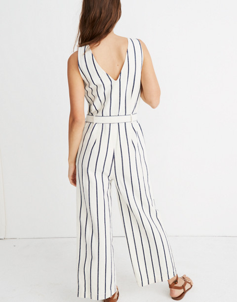 Striped Pull-On Jumpsuit in marta stripe image 3