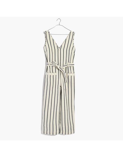 Striped Pull-On Jumpsuit in marta stripe image 4
