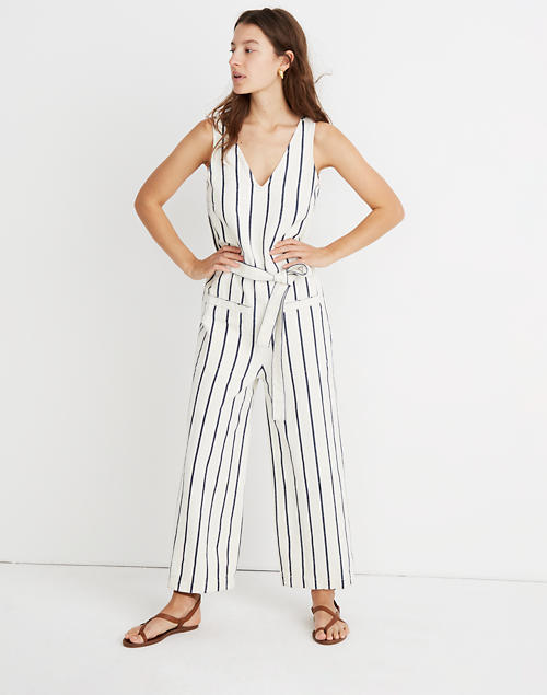 1b4b88d7 Shoptagr | Tall Striped Pull On Jumpsuit by Madewell