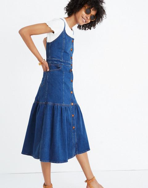 Denim Bayview Tiered Midi Dress