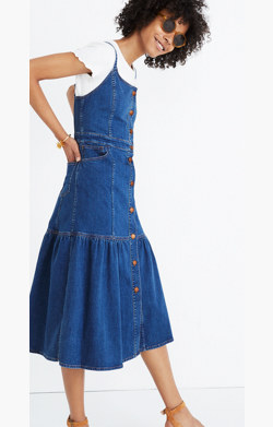 Denim Bayview Tiered Midi Dress