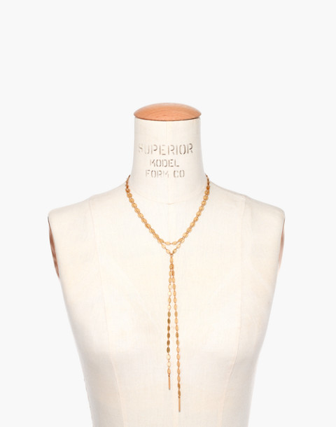 Waterfall Lariat Necklace in gold ox image 3