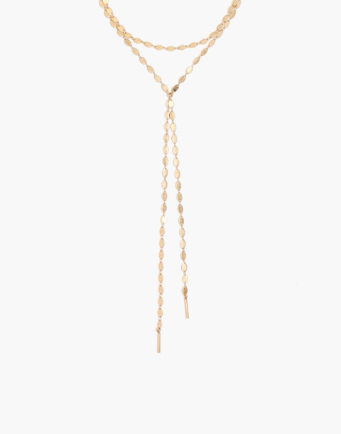 Waterfall Lariat Necklace in gold ox image 1